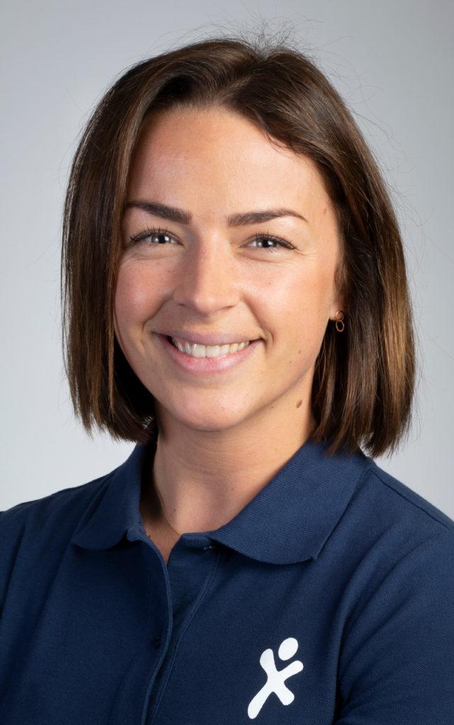 Iris Lamers, oncologie- en oedeemfysiotherapeut. Betrokken bij Fysio Fitness, Oncologische revalidatie en Steunkousen.